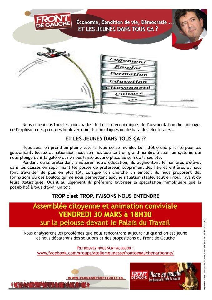 LES JEUNES SE BOUGENT  À NARBONNE dans antilibéralisme 30-03-2012-Narbonnerecto1